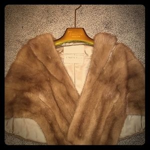 Thalhimers Vintage Natural Brown Mink Stole/Wrap